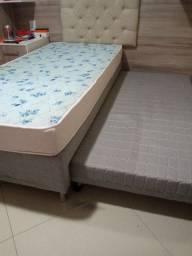 Cama box de solteiro com cama auxiliar