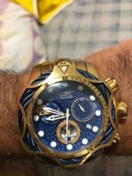 Relógio invicta modelo 26656 folheado ouro