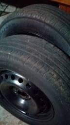 Rodas de ferro aro 15 pneus meia vida
