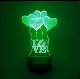 Luminária de Mesa de LED 3D