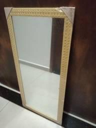 Espelho tamanho Médio Cor Bege 1M altura por 45cm largura