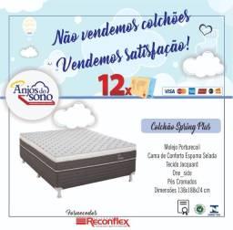 Colchão Spring Plus Molas Posturecoil Casal Frete Grátis para Recife Entrega imediata