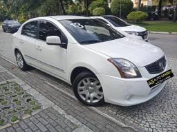 Nissan Sentra 2013 2.0 mec. branco(lindo!)completo+gnv+revisado+novíssimo!!!