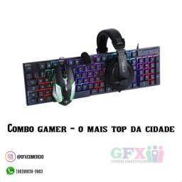 Título do anúncio: Combo gamer - mouse, teclado e headset