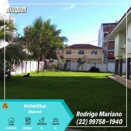 Alugo excelente casa c/ 5 quartos em Imbetiba, Macaé