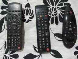 Controles de TVs Samsung e LG Controle do Som Panasonic Originais... $:25 Reais cada...