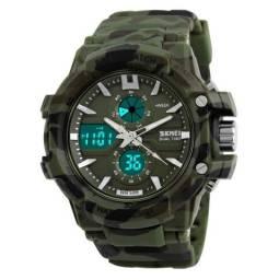 Relógio Militar Camuflado Digital e Analógico à Prova D água 5 ATM 100% Novo 43378d28a4