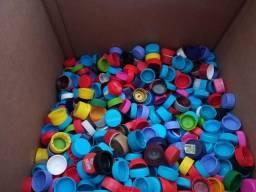 500 tampinhas pet usadas para artesanato ou decoração