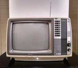 Televisão Antiga Toshiba Blackstripe