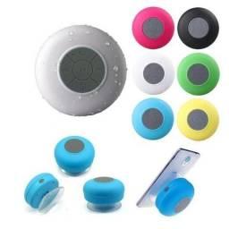 Mini Caixa Som Bluetooth Portátil Prova De Água Ventosa Várias Cores