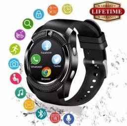Relogio bluetooth smartwatch v8 com chip camera ligação celular