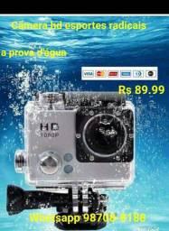 Câmera hd a prova d'água p/esportes