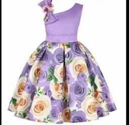 Vestido flores infantil