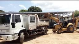 Aluguel de caminhões e retro escudeiras