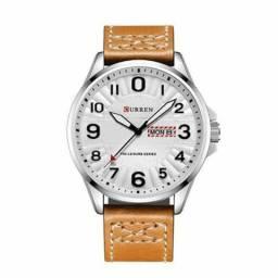 8e261a48ee7 Relógio Masculino Curren Analógico 8269 - Prata e Branco