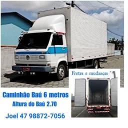 Fretes e mudanças caminhão Baú (Navegantes e região)