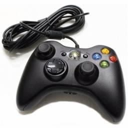 Controle para X Box 360 Com fio e Garantia (Loja no Anjo da Guarda) Entrega grátis