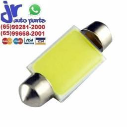 Lâmpada LED Torpedo Cob 12 LEDs Branca Placa Teto Porta Malas 31mm 36 mm 39mm 42mm