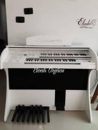 Orgão Eletrônico Premium branco alto brilho