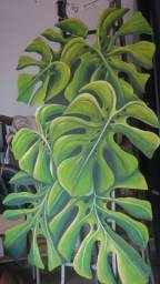 Pintura artística em madeira