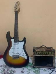 Guitarra Strinber+Cubo+Pedaleira Zoom G1