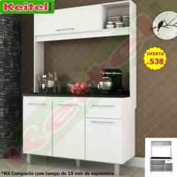 Kit Cozinha Compacto Laís Com Tampo de 15 mm