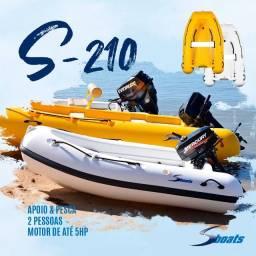 Sboats S-210 LX   Últimas Unidades 2020   Bote Rígido para Apoio Pesca e Lazer
