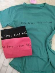 Tshirts 100% algodão