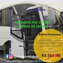 Neobus New Road N10 2016 Mercedes Benz OF1721 ônibus fretamento
