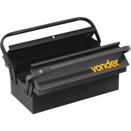 Caixa metálica para ferramentas, com 5 gavetas, 40 cm x 19 cm x 20 cm, Vonder (Nova)