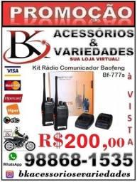 Kit Rádio Comunicador Baofeng Bf-777s (Loja BK Acessórios e Variedades)-Promoção