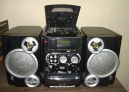 Micro System Portátil Lenoxx MC263 c/ MP3 e Entrada USB - 6 W