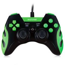Controle Gamer Com Fio Ps3/pc Preto E Verde Multilaser Js091