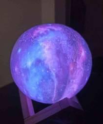 Luminária Planeta Cheia 3D Troca de Cor ??