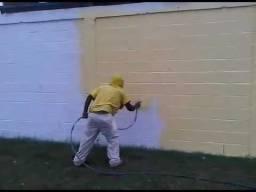 Pintor de Airless muros externo/galpões/chapiscado/ambientes grandes