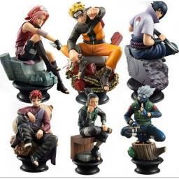 Bonecos  Naruto -   Kakashi - Sakura -  Gara -  Shikamaru - Sasuke  Uchiha e etc