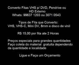 Conversao de Fitas VHS para DVD, Pendrive ou HD Externo