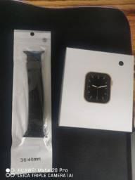 Smartwatch W46 Preto 40mm, 44mm , Passamos cartão