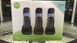 Telefone Sem Fio Motorola M750 1 Base + 2 Ramais Preto