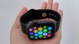 Relógio Inteligente Iwo 26 (apple serie 6 a prova d'água)+ Pulseira milanesa Metálica