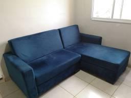 Sofá Trevisan Veludo Azul