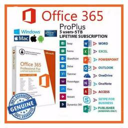 Pacote Office 365 2019+1tb onedrive armazenamento