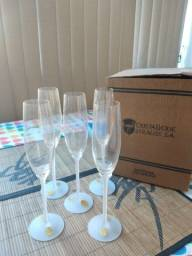 Taças de Champagne cristal legítimo