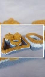 Kit Higiene(Crochê) Raposinha