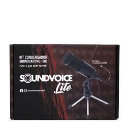 KiT MIcrofonE CondensadoR SoundvoicE LitE SoundcastinG1200