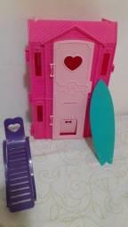 Lote de 3 brinquedos da Barbie pra vim busca