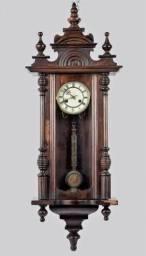 Título do anúncio: antigo relógio de parede junghans, medidas 100 x 40 x 19 cm