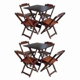 Mesas e cadeiras de madeira fabricamos e entregamos