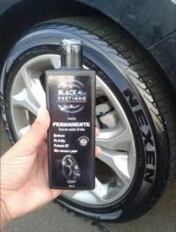 Black Pretinho dura de 20 a 30 dia pneu