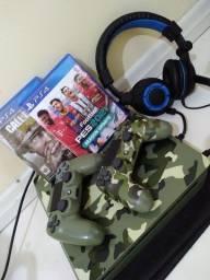 PS4 SLIM 1TB Bundle edição Limitada. Call of duty ww2